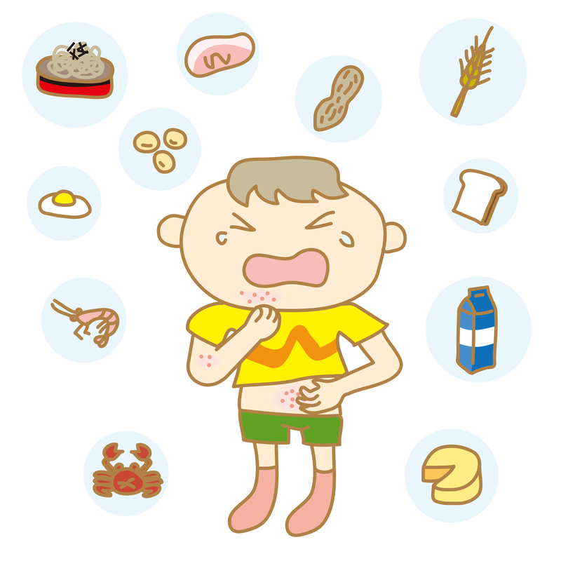 allergic reaction in babies and children